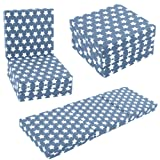 KIDS CHAIR BED - Kids Folding Chairbed Futon Guest Z bed Childrens (Graphite Stars)