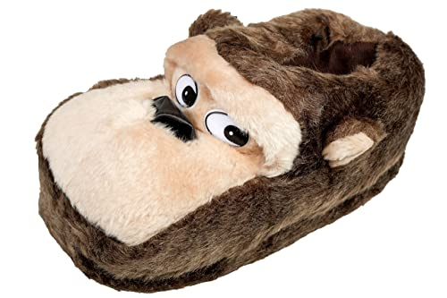 gibra® Tierhausschuhe Affen Hausschuhe, Art. 0026, braun, Gr