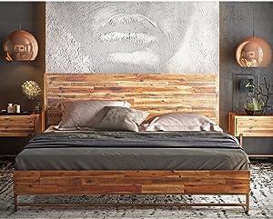 Tov Furniture Bushwick Collection Acacia Wood Bed, King