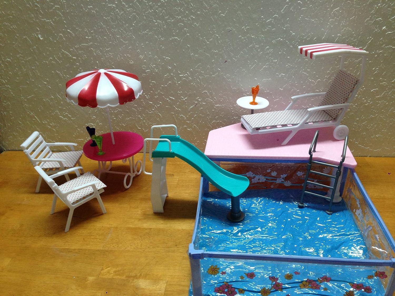 amazoncom barbie size dollhouse furniture summer resort water fun toys games amazoncom barbie size dollhouse