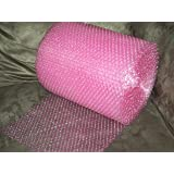 """50 Foot Pink Bubble Cushioning Wrap Roll, 3/16"""" (Small) Bubbles, 12"""" Wide, Perforated Every 12"""""""