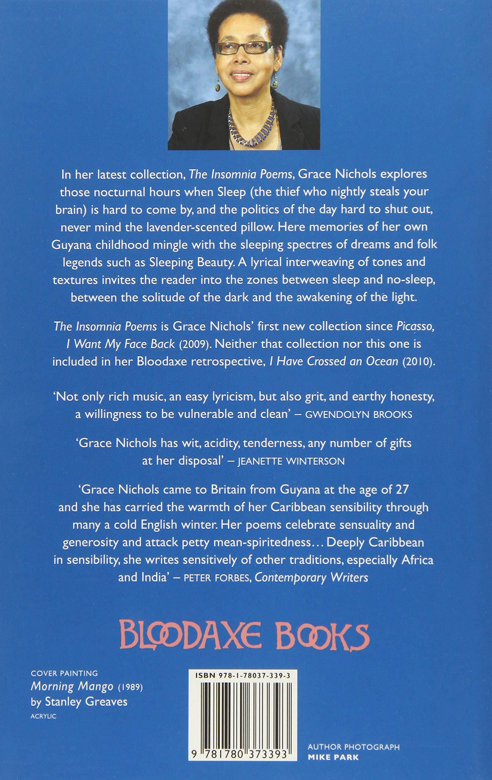 The Insomnia Poems Amazones Grace Nichols Libros En