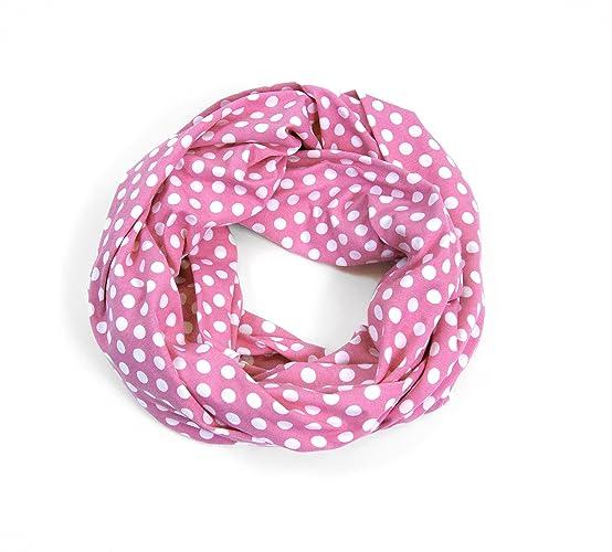 95dc063f8795 Amazon.com  Jersey Infinity Scarf (Pink Polka Dot)  Handmade