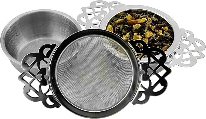 Tea Strainer Single handle with bowl s//s  Guaranteed Quality