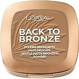 L'Oréal Paris Terra Make Up Abbronzante Viso in Polvere, Finish Matte, Back To Bronze, Texture Leggera, 02 Sunkiss