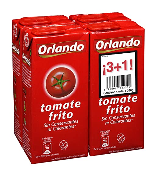 Orlando - Tomate Frito Clásico Brik - 4 x 350 g