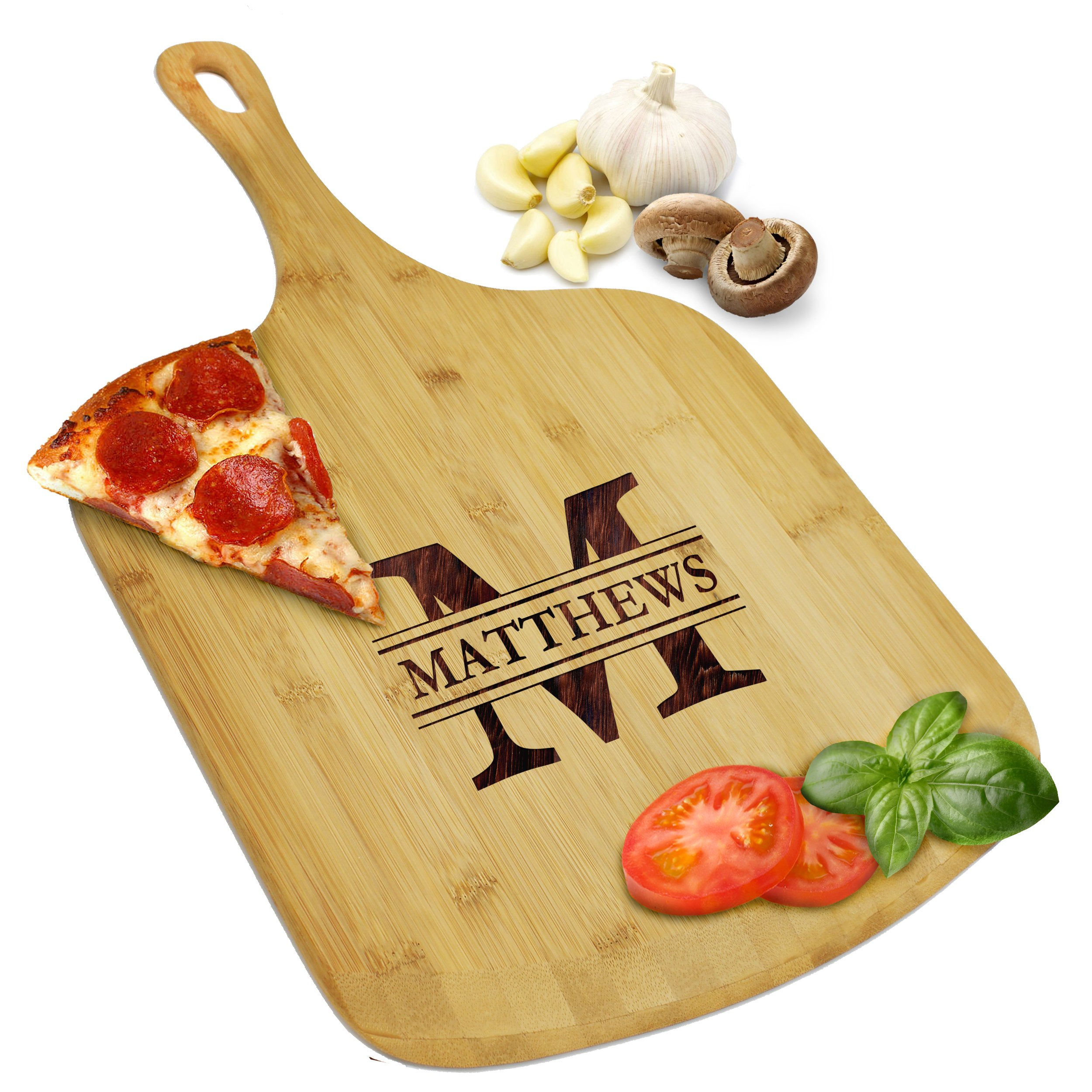 Custom Personalized Pizza Peel Bamboo Wood Paddle Board - Housewarming Pizza Lovers Gift - Engraved for Free by My Personal Memories