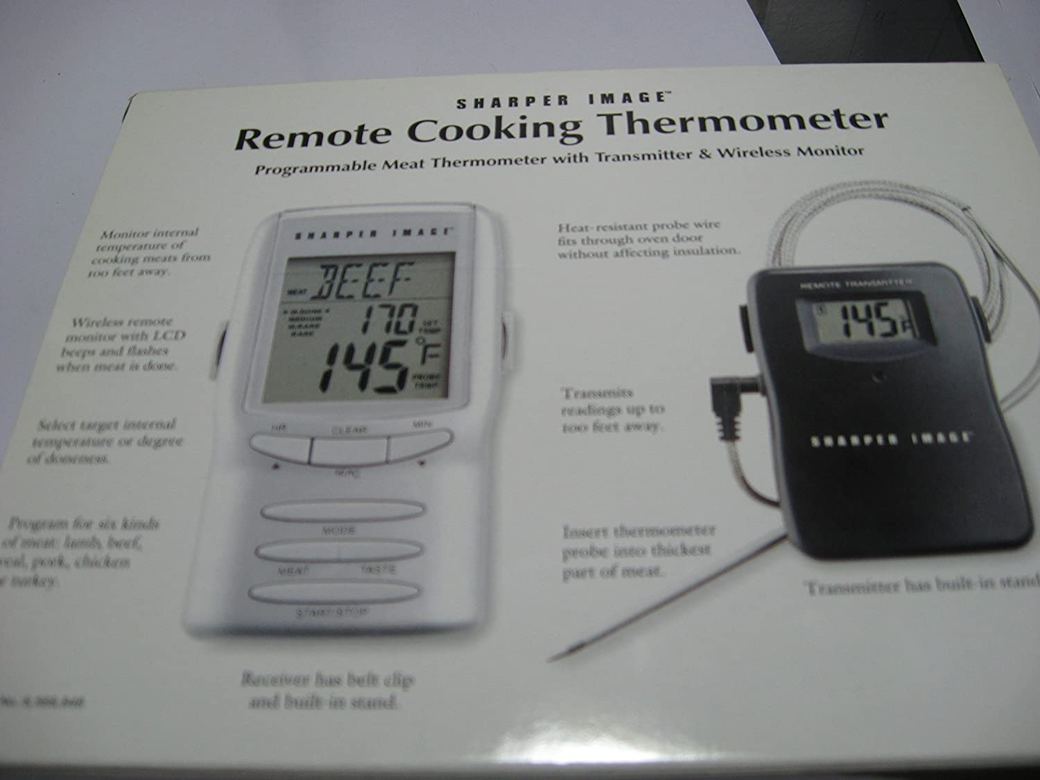 Amazon.com: Sharper Image Remote Cooking Oven BBQ Thermometer MI212: Kitchen & Dining