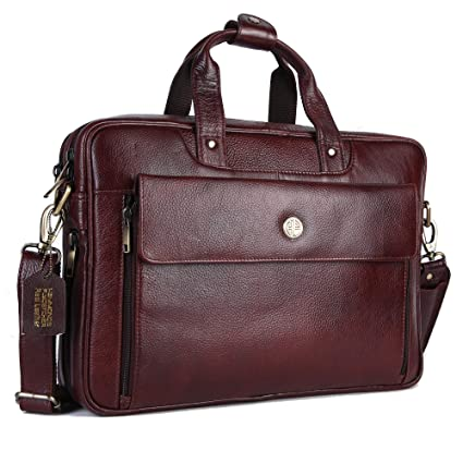 960bfe882a32 Amazon.com: HAMMONDS FLYCATCHER Handmade Briefcase Top Grain Leather ...