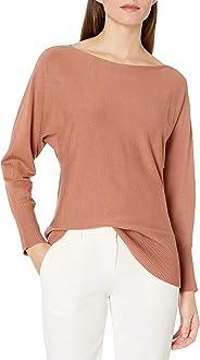 Amazon Brand - Lark & Ro Women's Long Sleeve Bateau Neck Sweater