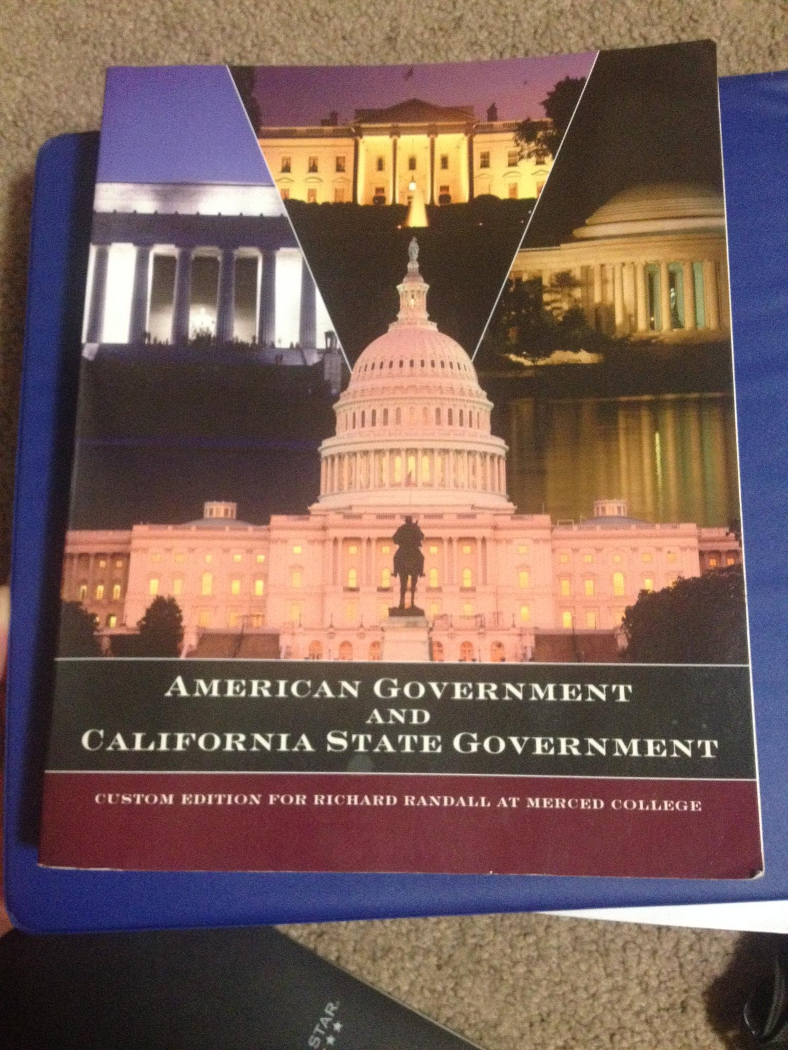 Download American Government and California State Government Custom Edition for Richard Randall at MERCED COLLEGE ebook