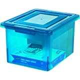 Staples Letter/Legal File Box, Translucent Blue