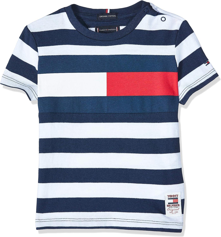 Tommy Hilfiger KB0KB05498 Camiseta niño Línea Azul 3A: Amazon.es: Ropa y accesorios