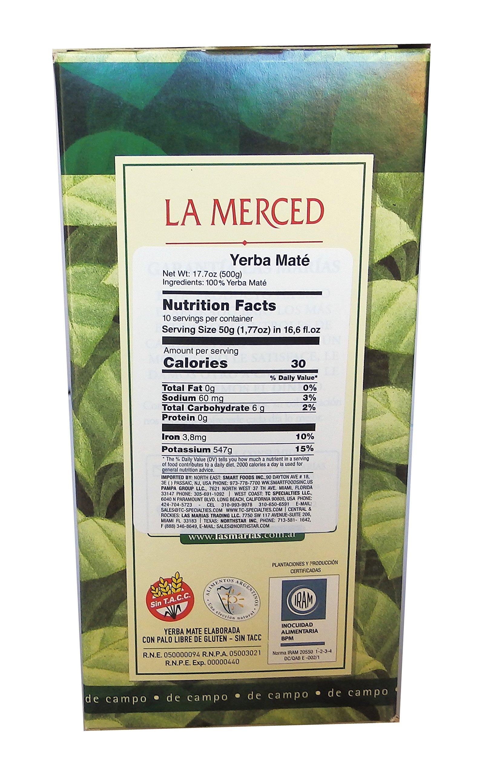 La Merced De Campo Yerba Mate 500 g (1.1 lbs) 6 Pack by La Merced (Image #4)