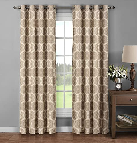Reviewed: Window Elements Avila Printed Cotton Extra Wide 104 x 96 in. Grommet Curtain Panel Pair