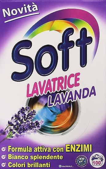 Soft – Detergente para Lavadora de lavanda, Fórmula activa con enzimas – 6300 g