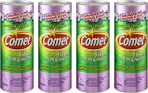 Comet Cleaner with Bleach Powder Lavender Fresh 21-Ounces   Scratch-Free   4-Pack