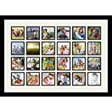 Art to Frames Double-Multimat-1287-61/89-FRBW26079 Collage Photo Frame Double Mat with 24 - 4x4 Openings and Satin Black Frame
