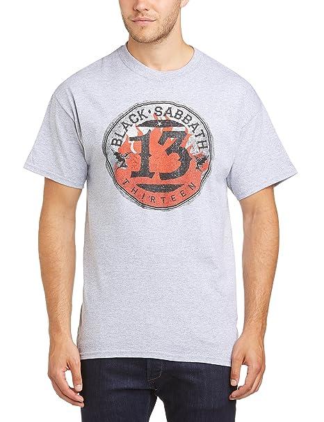 7fc19e8ed5efd Black Sabbath 13 Flame Circle - Camiseta Manga Corta para Hombre ...