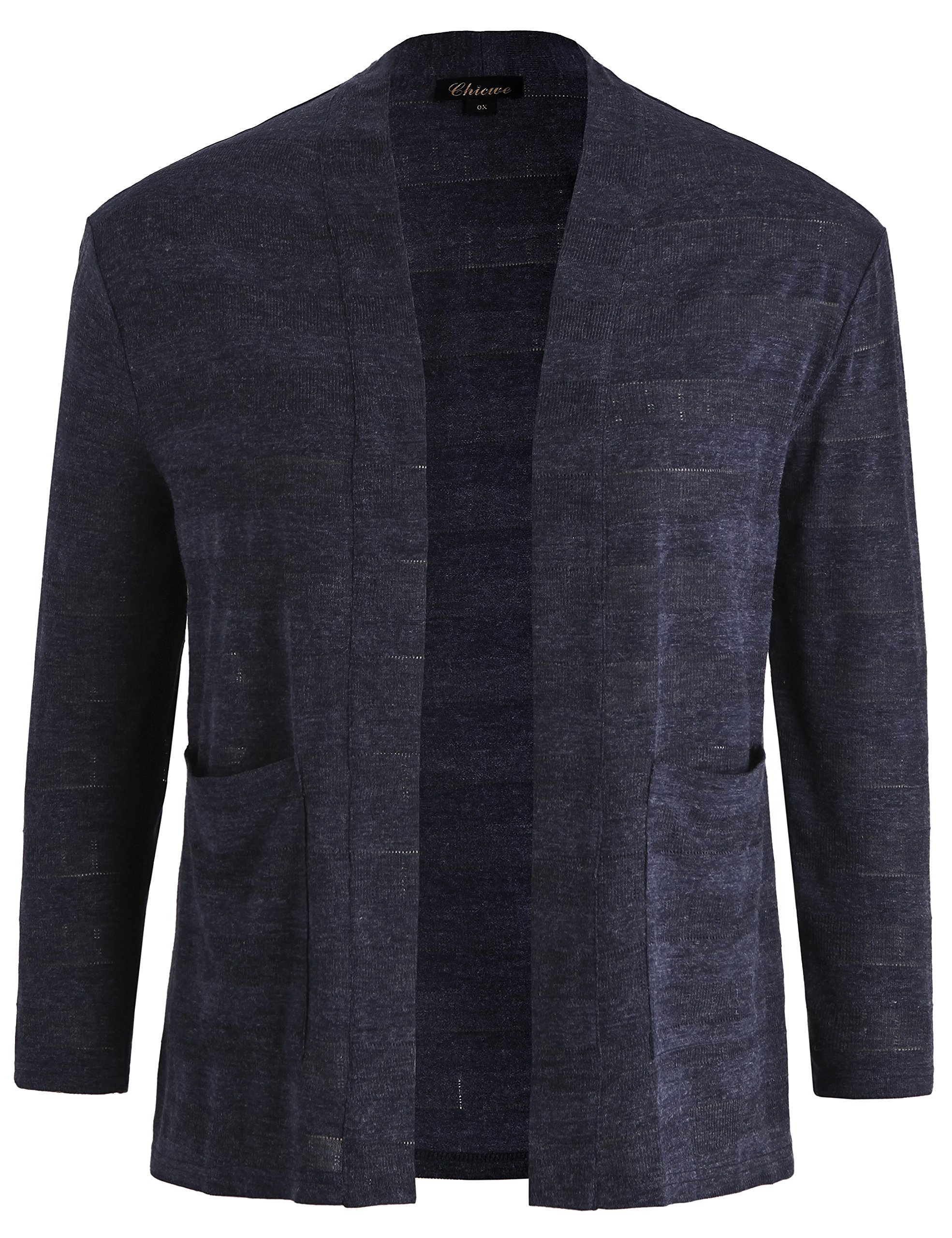 Chicwe Women's Plus Size Jacquard Cardigan Jacket - Casual and Work Blazer 4X