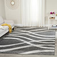 Overstock.com deals on Safavieh Adirondack Modern Charcoal/Ivory Rug 8-ft x 10-ft