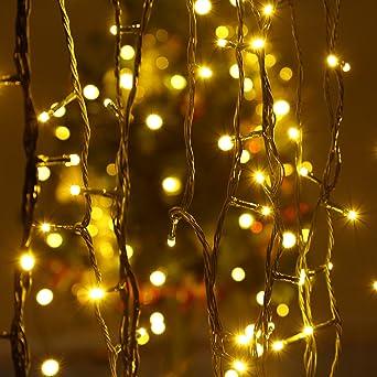 Led Lichterkette Weihnachten.Lichterkette Weihnachten Led Lichterkette Infinitoo Lichterkette Mit 100er 10m Niedrigspannung Warmwei Lichterkette F R Raum Party