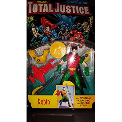 DC Total Justice League Batman:Robin Action Figure: Toys & Games