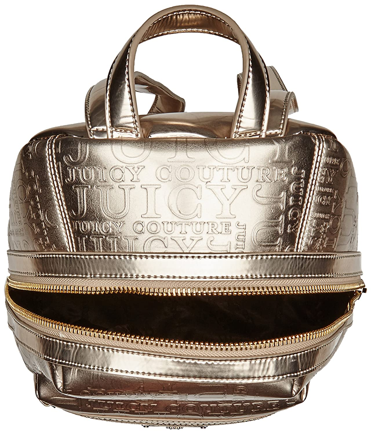 797babe5a83d Juicy Couture Womens Cascading Juicy Backpack Metallic White gold   Amazon.co.uk  Shoes   Bags