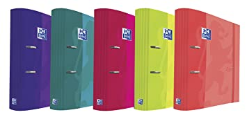 Oxford Filing Touch - Caja de 10 archivadores palanca con lomo ergonómico