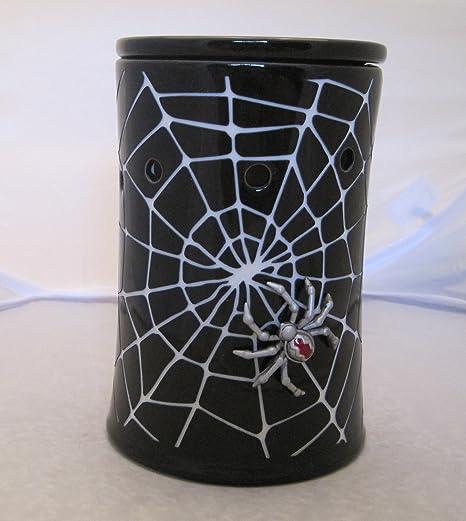 Scentsy Warmer Creepy Crawly Black Spider Halloween Spider Web