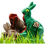 LIMITED EDITION Zombie Chocolate Bunny Rabbit & Victim Set- Easter Candy Zombie and Gourmet Chocolate Victim - by Sugar Plum Chocolates