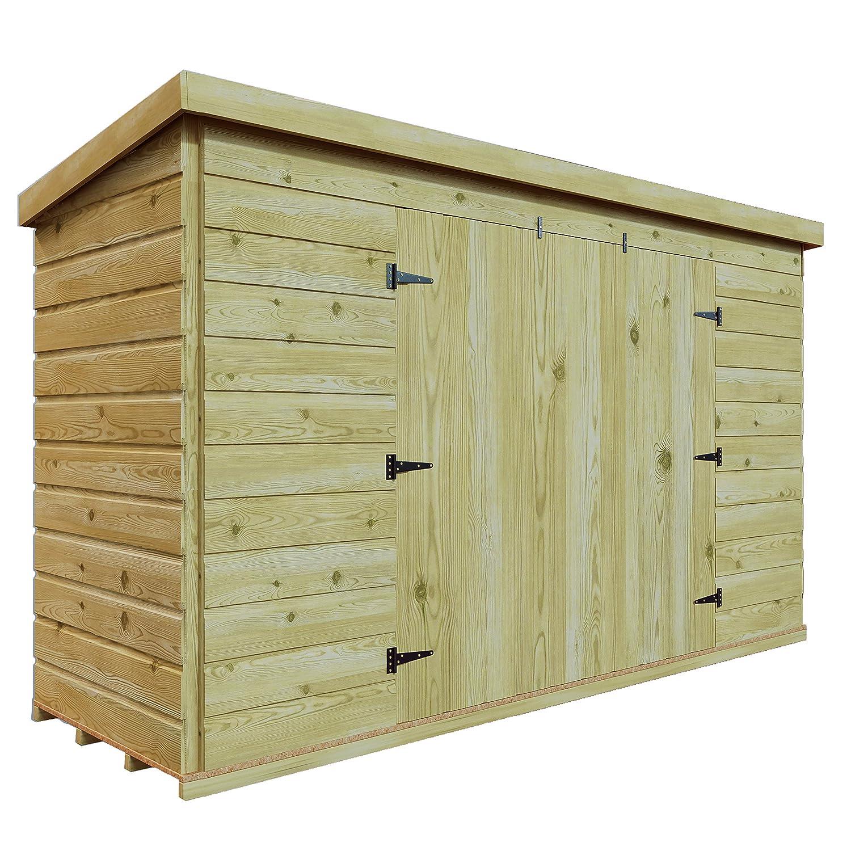 6 x 4 de madera tratada a presión jardín caseta de cobertizo ...