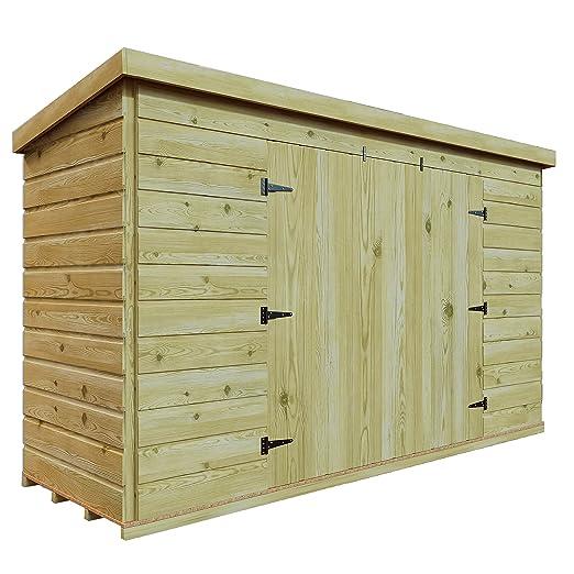 5 x 5 de madera tratada a presión jardín caseta de cobertizo ...