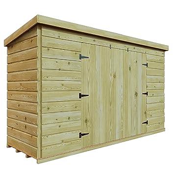 6 x 5 de madera tratada a presión jardín caseta de cobertizo (Tongue & Groove