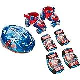D'Arpèje - The Amazing Spiderman - OSPI002 - Vélo et Véhicule pour Enfant - Sac avec Patins + Casque + 2 Protections