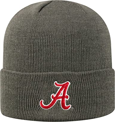 One Size Team Color OTS NCAA Alabama Crimson Tide Mens Raised Cuff Knit Cap