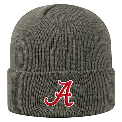 huge discount 16cce 0c14f Top of the World Alabama Crimson Tide Men s Winter Knit Hat Icon, Charcoal,  One