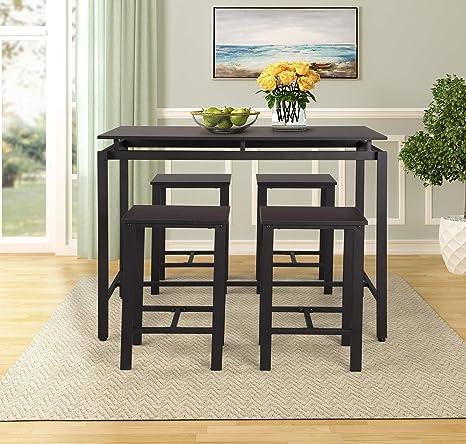 Amazon.com - Mera 5Pcs Counter Height Dining Set Modern ...