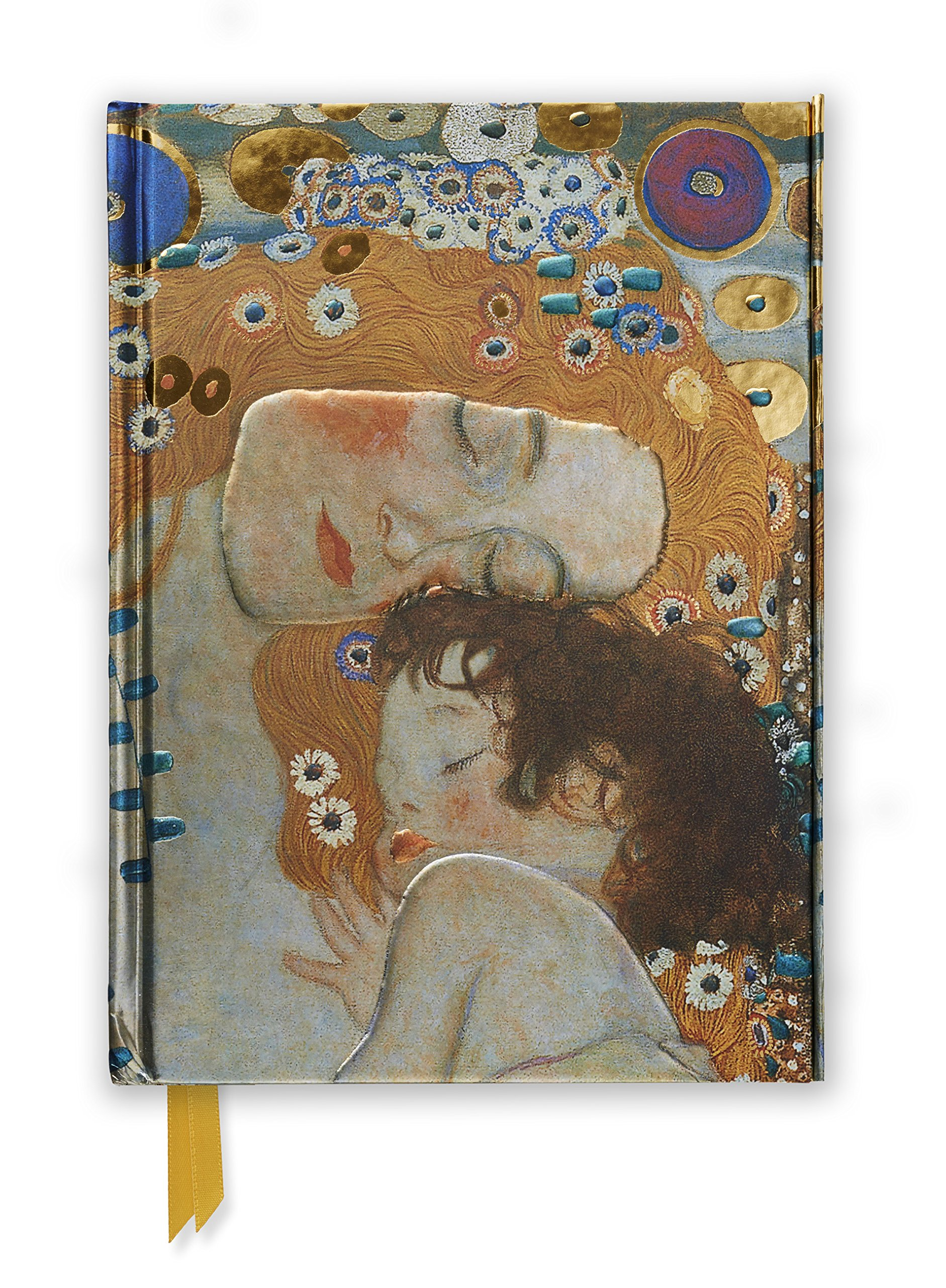 gustav klimt three ages of woman foiled journal flame tree notebooks