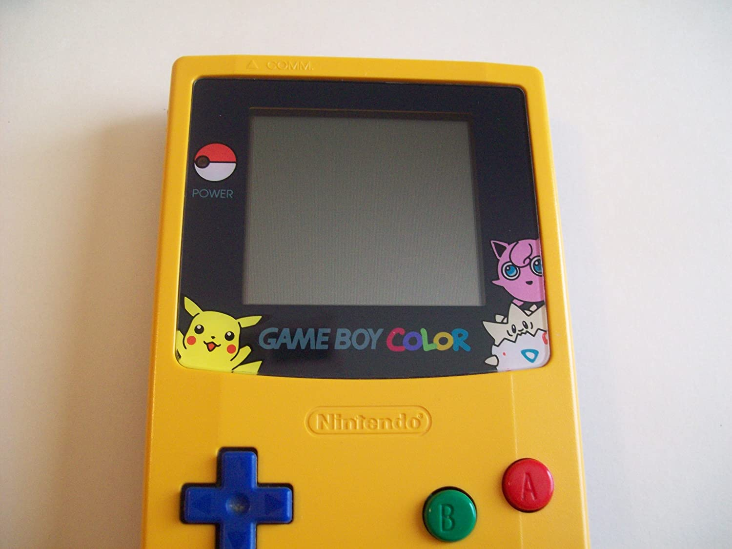Gameboy color and pokemon yellow - Limited Edition Pokemon Yellow Game Boy Color System