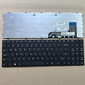 Sierra Blackmon US Layout Notebook Keyboard for Lenovo IdeaPad 100-15IBY B50-10 Series Black with Frame Nano-US PK131ER1A00 5N20H52661 NSK-BR0SN 9Z.NCLSN.001