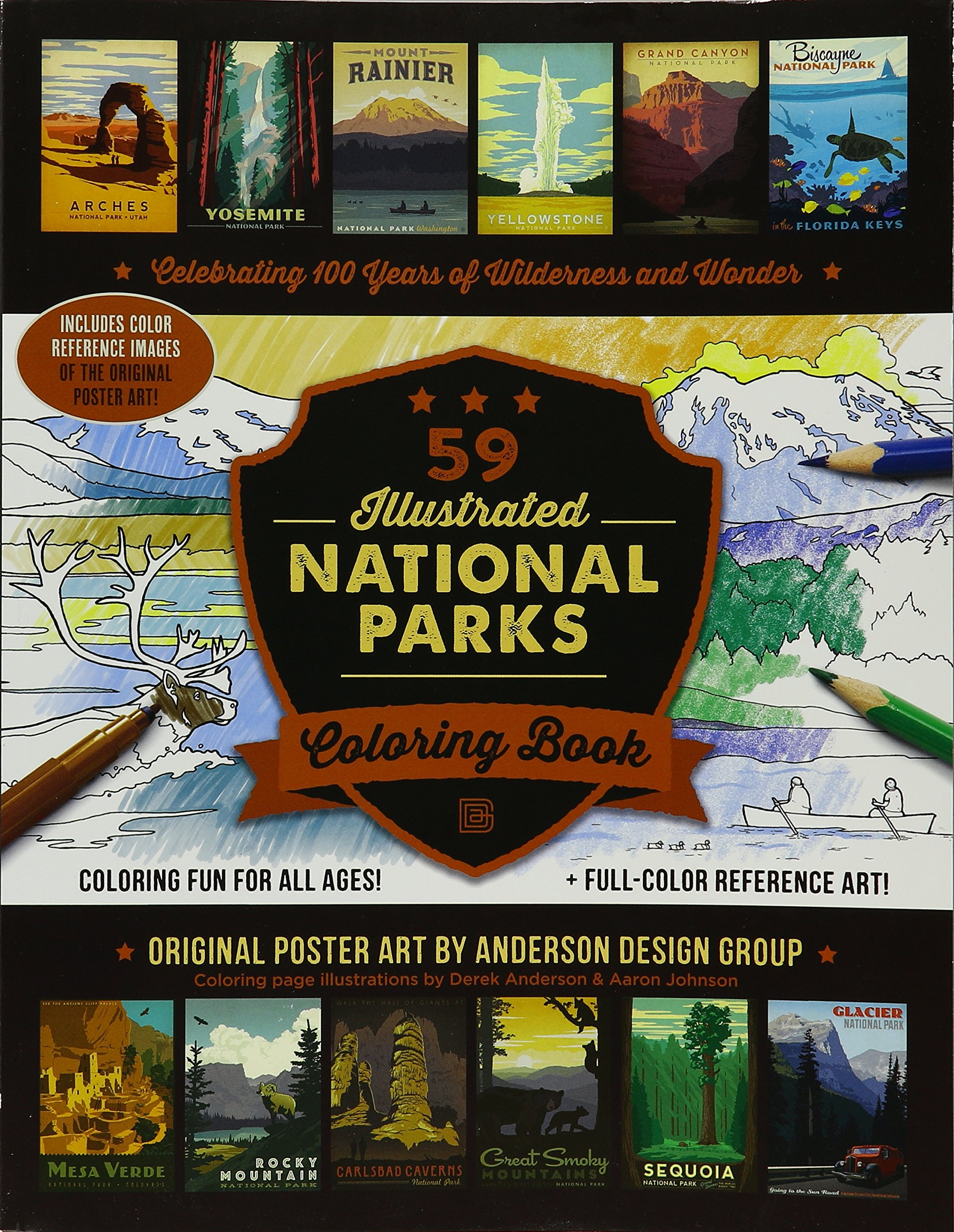 Download 59 Illustrated National Parks Coloring Book ebook