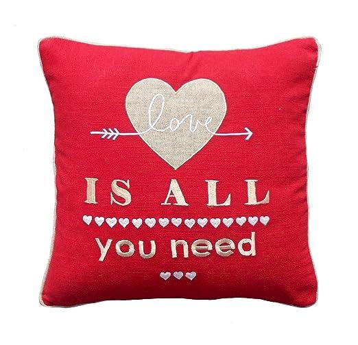 VLiving San Valentín funda de almohada Love diseño de ...