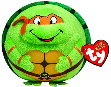TY Beanie Ballz Michelangelo Orange Mask