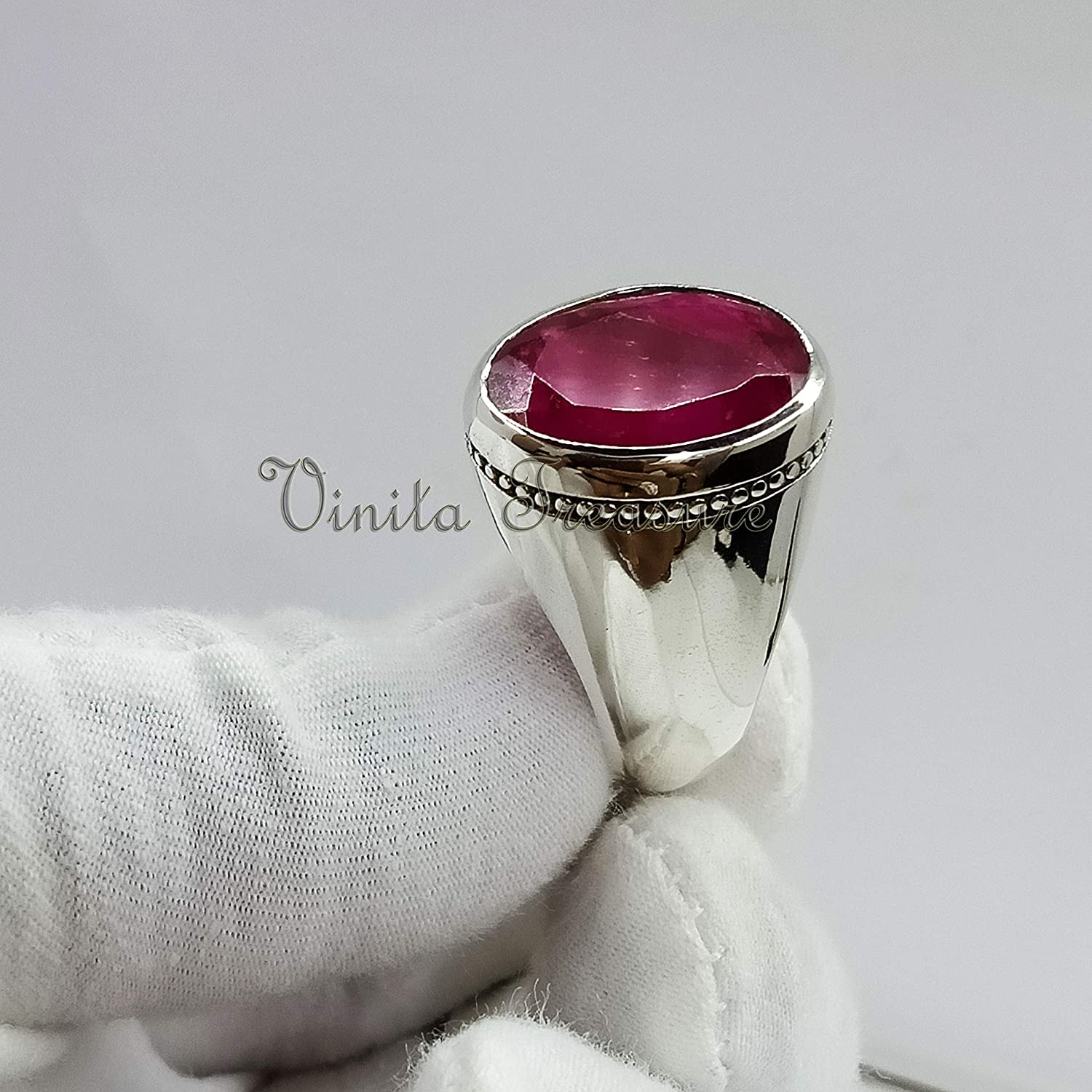 Natural Ruby Ring In Sterling Silver 925 Sterling Silver Ring Men/'s Stylish ring Wedding Ring Wedding Band Gift For Him