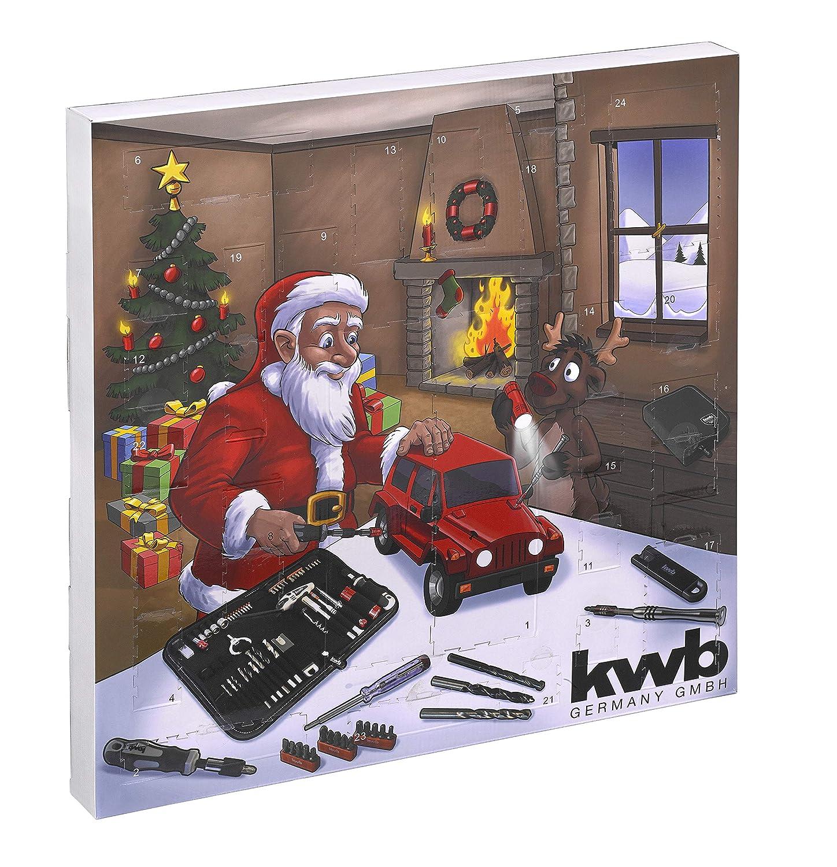 Kwb Adventskalender - 2018 Edition - Der originelle Weihnachtskalender für Männer, Kalender mit hochwertigen Werkzeug-Stücken gefüllt, inkl. Tasche