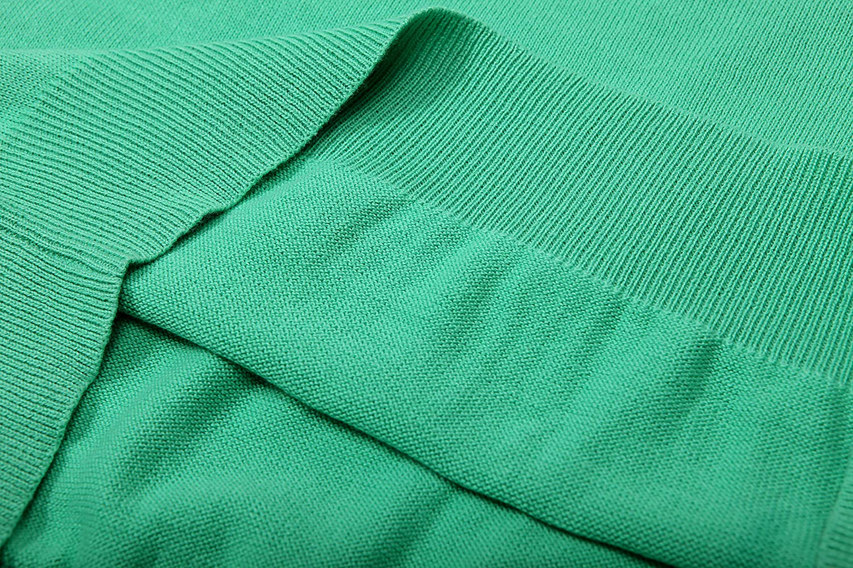in stile casual a maniche lunghe con scollo a V 100/% cotone Glo-Story Maglione da uomo lavorato a maglia leggero e in tinta unita