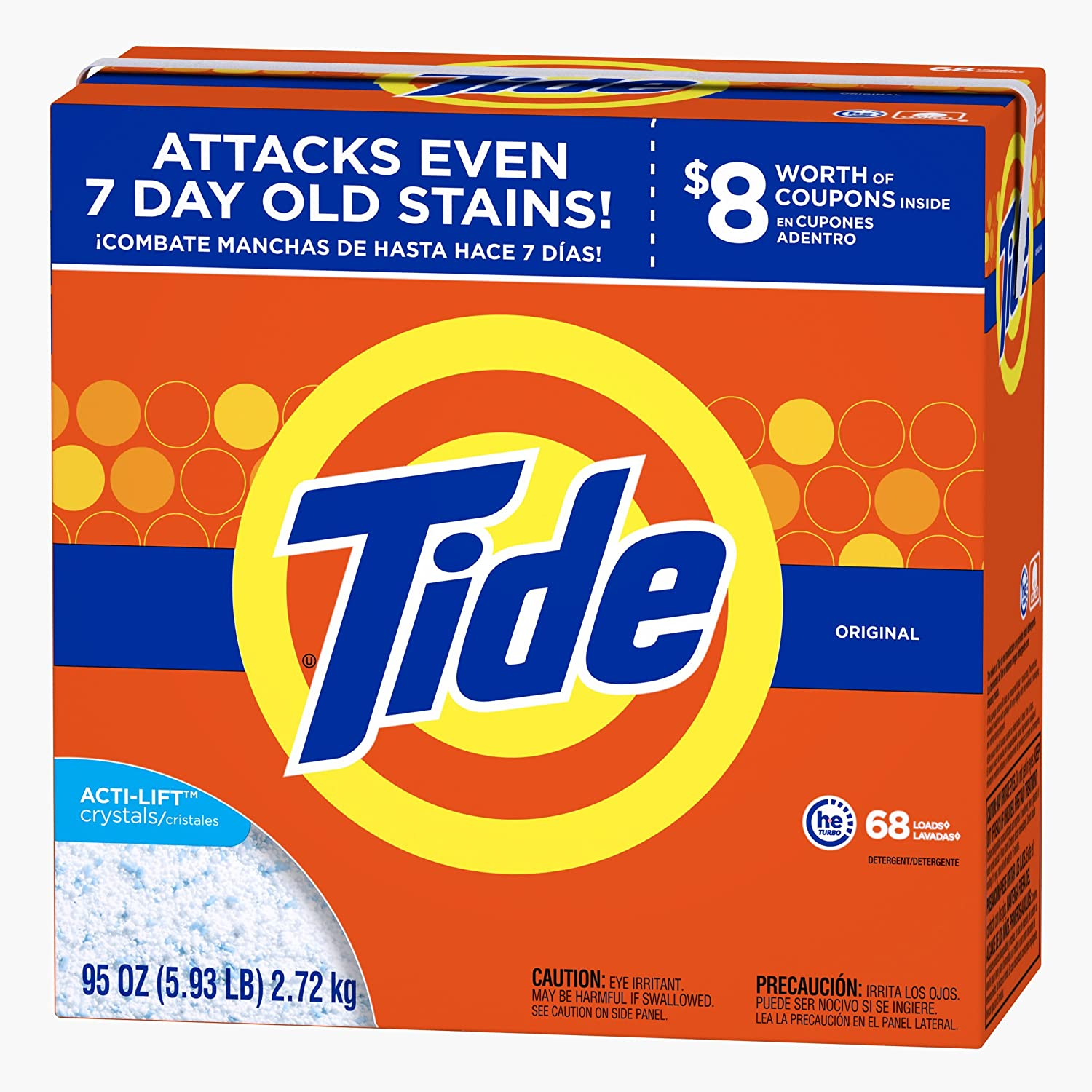 Tide Ultra He Original Scent Powder Laundry Detergent, 68 Loads, 95 oz