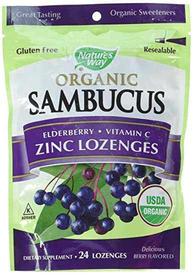 Amazon Com Natures Way Sambucus Organic Zinc Lozenges With