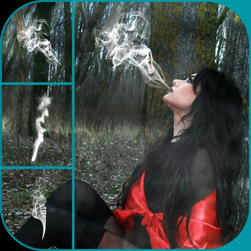 Smoke Effect Photo Editor - Frames Face Shape According To